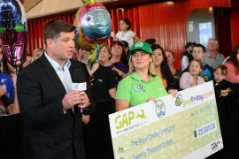 $20,000 donation for Royal Children's Hospital Good Friday Appeal
