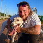 Aston Gwen with trainer Benjamin Magri