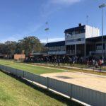 The Richmond GRC grandstand.